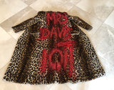 Rebecca Minkoff Faux Leopard Fur Coat Custom Design Sz XS