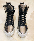 Diesel Zip Around S-Nentish Silver Sneakers Sz 12