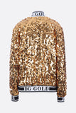 Dolce and Gabbana D&G Gold Sequin Jacket Sz Sm