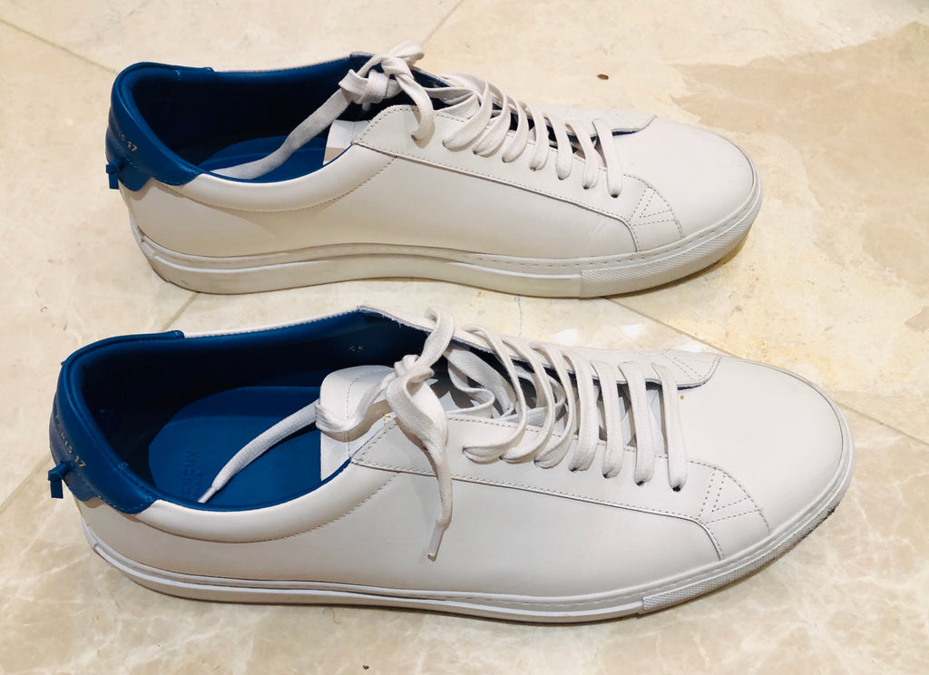 Givenchy Knots Urban Street White Leather Low Sneakers Sz 12/45