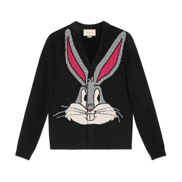 Gucci Guccy Bugs Bunny Cardigan Sweater Sz L