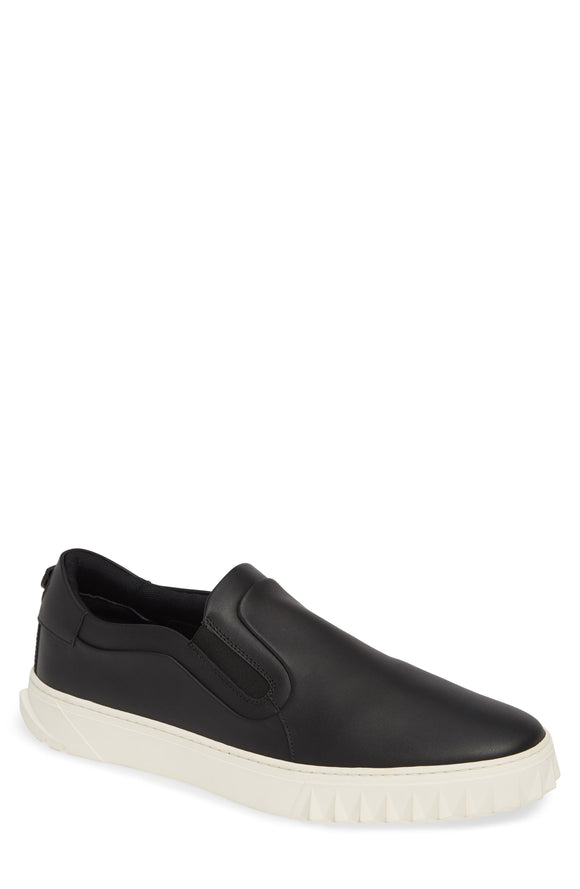 Salvatore Feragamo Black Cruise Slip On Sneakers Sz 12