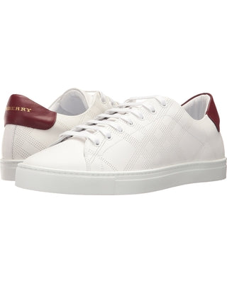 Burberry White Preforated Sneakers Sz