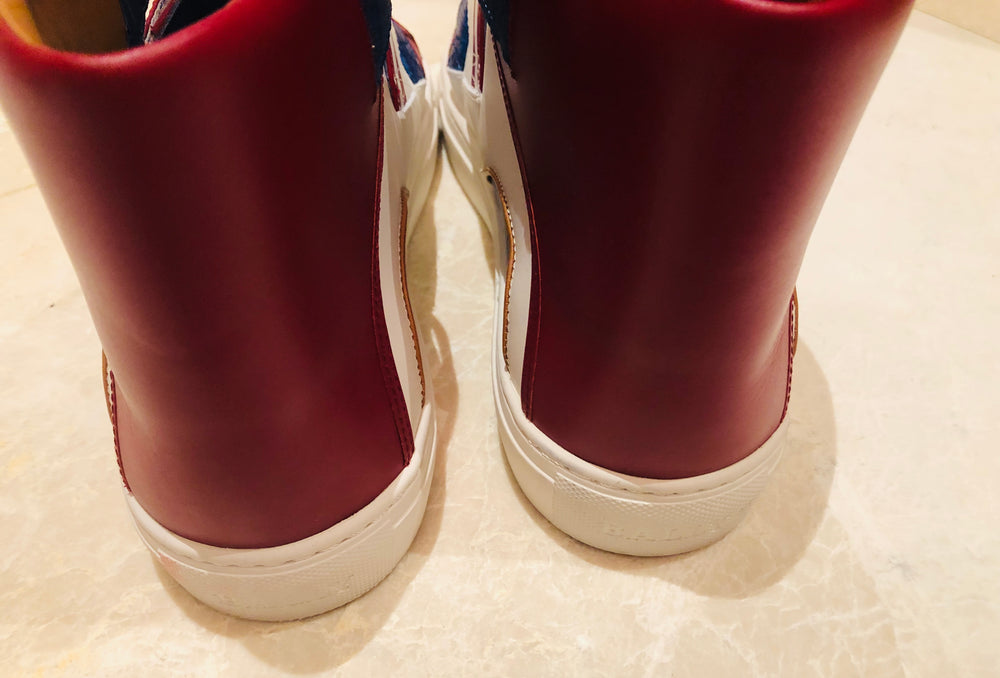 Bally Herick Leather High Top Sneakers Sz 12