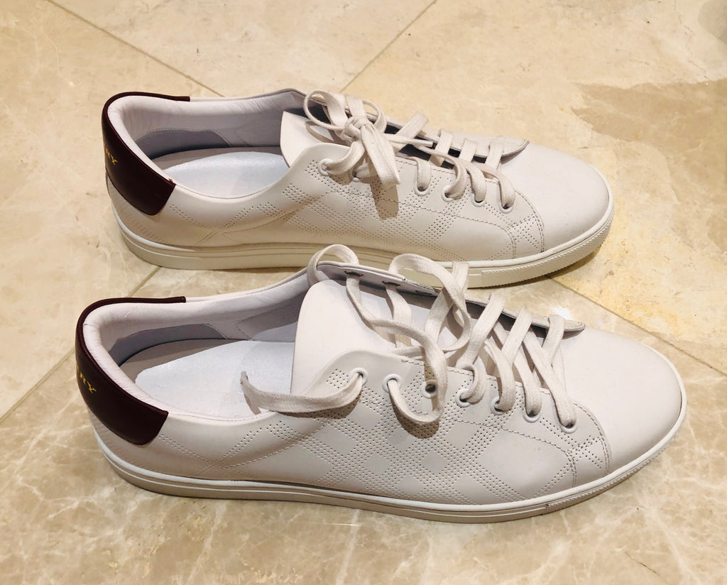 Burberry White Preforated Sneakers Sz 46