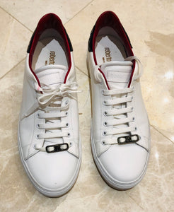 Roberto Cavalli Low White Snake Sneakers Sz 44/11