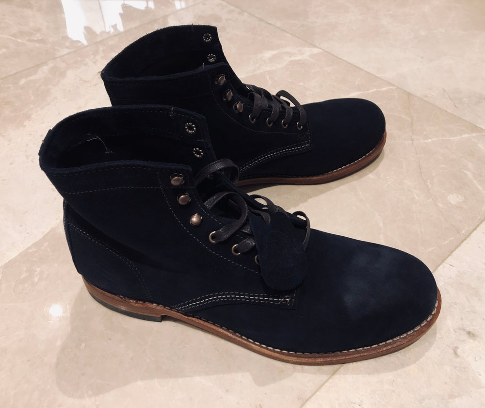 Wolverine 1000 Mile Suede Boots Navy Sz 12