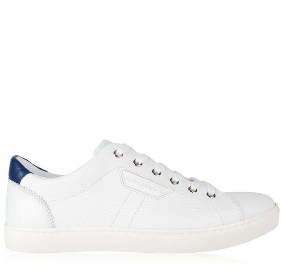Dolce & Gabbana White Leather Sneakers Sz 10.5