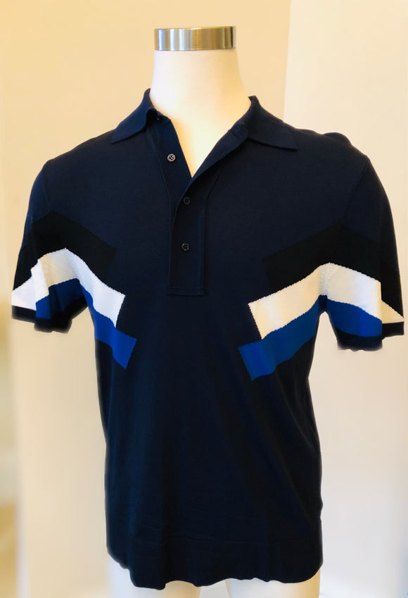 Neil Barrett Techno Polo Shirt Sz XL