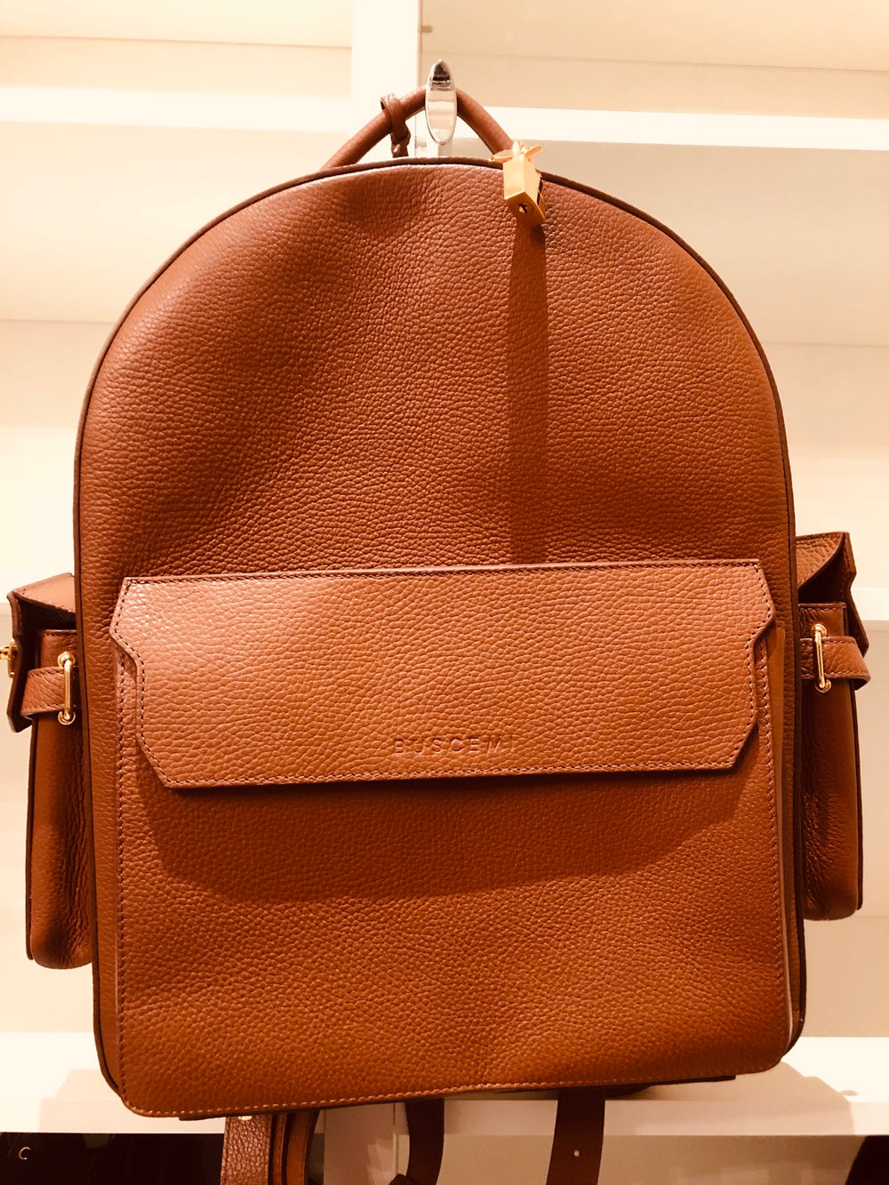 Buscemi PHD Leather Backpack in Whiskey