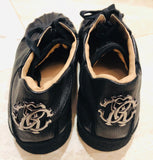 Roberto Cavalli Low Black Monogram Sneakers Sz 44/11