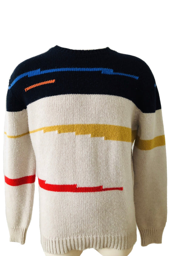 Stella McCartney Multicolored Knit Sweater Sz XL