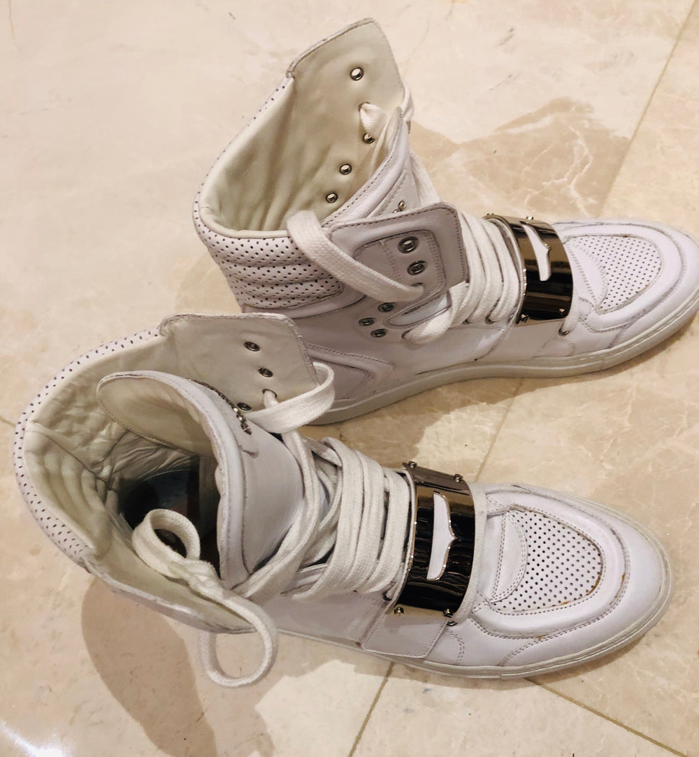 Dsquared2 Cambridge White High Top Sneakers Sz 45/12