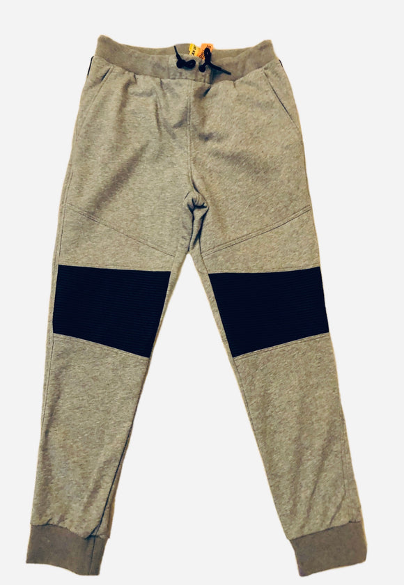 Daniel Won Gray Leather /Cotton Sweatpants Sz L