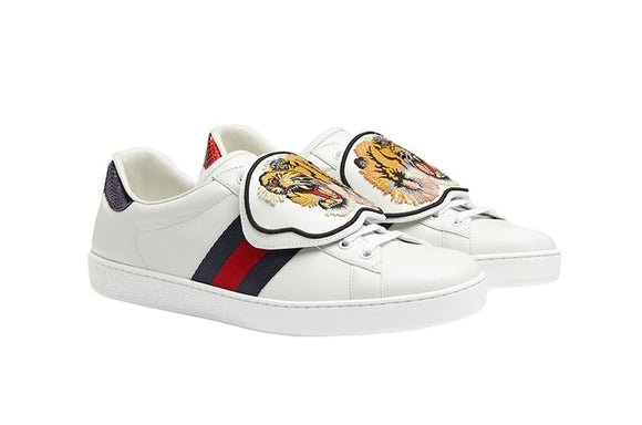 Gucci Ace Tiger Patch Sneakers Sz 12