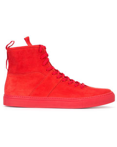 Daniel Patrick Red Suede High Top Roamer Sneakers Sz 12