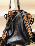Christian Louboutin Leopard Pony Hair Backpack