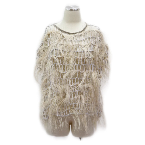 Brunello Cucinelli Ostrich Feather Top Sz XS