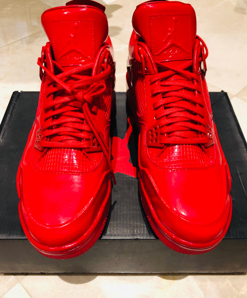 Nike Air Jordan 4 11LAB4 Red Patent Leather Sneakers Sz 12