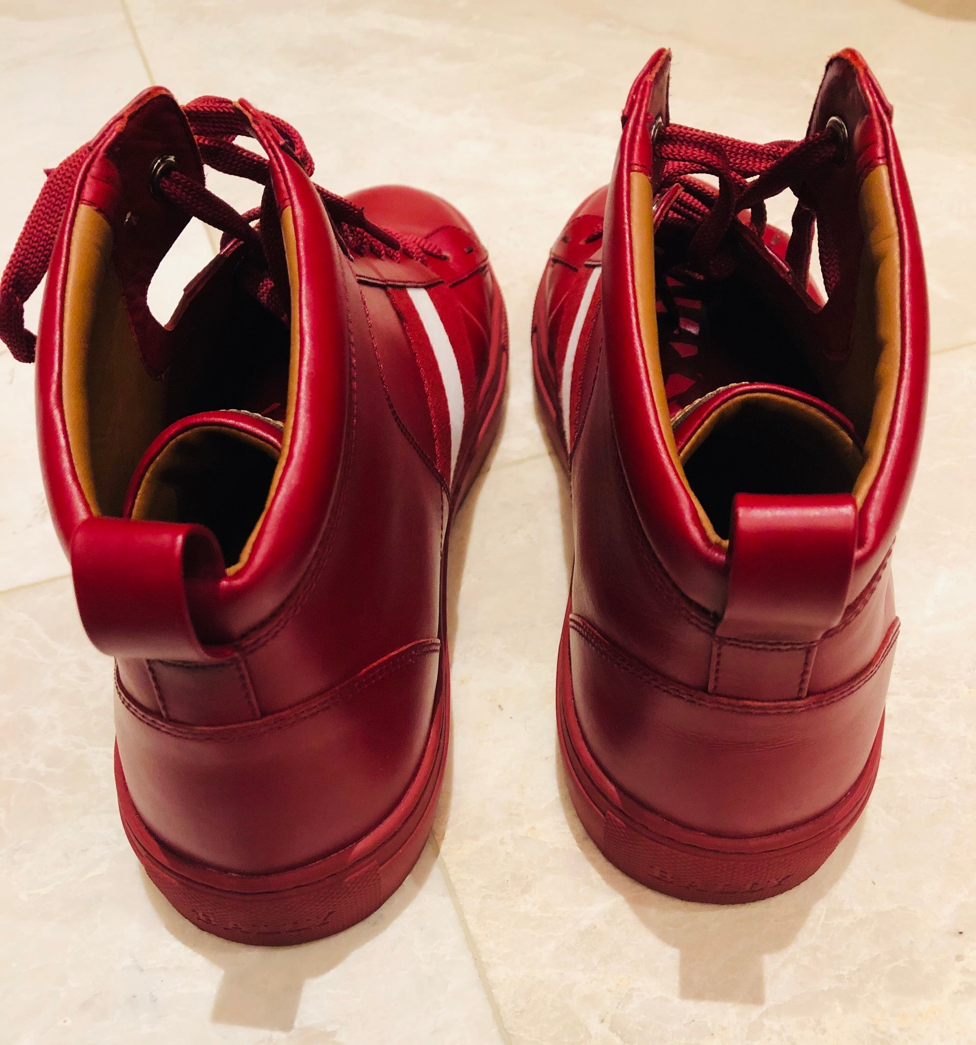 Bally Oldani Red Leather High Top