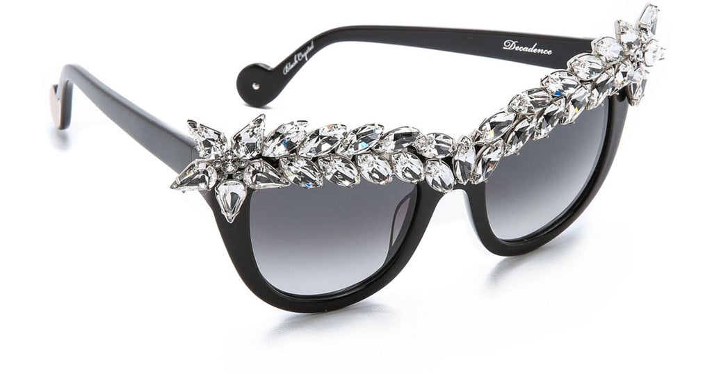 Anna Karin Karlsson Decadence Crystal Black Sunglasses