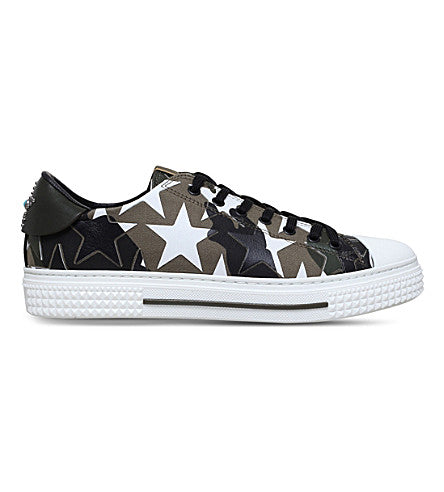 Valentino Star Camo Low-Top Sneakers  Sz 45
