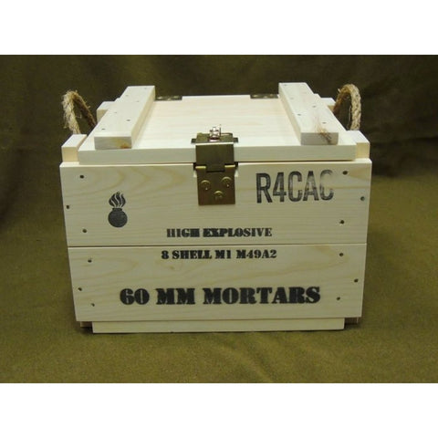 U.S. WWII Reproduction 60mm Mortar Wood Crate - Marshall's Arsenal