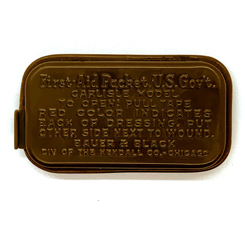 Carlisle WWII First-Aid Packet (FAP) - Plastic Replica - Marshall's Arsenal