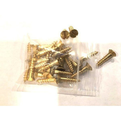 Brass Slotted Hardware Screws - (25) New - Marshall's Arsenal