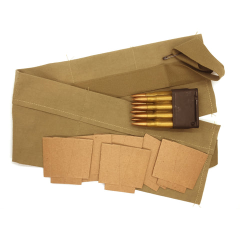 WWII M1 Garand Reproduction Bandoleer & Replica Ammo Pack