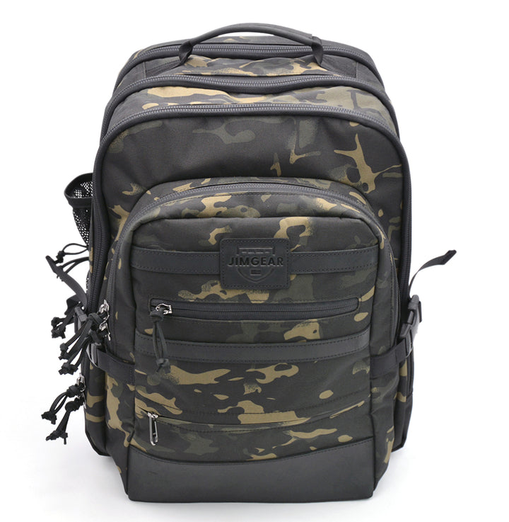 JimGear Backpack 2.0 - Camo Black, Tan, and Green Colors