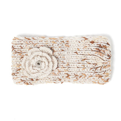 GS Peony Button Headband - Cream