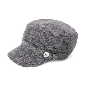 GS Tweed Cadet Hat - Black/White