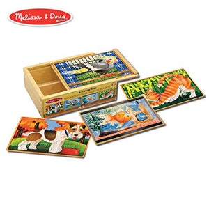 Wooden Jigsaw Puzzles in a Box