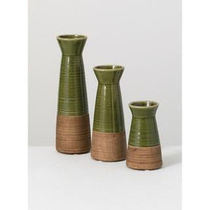 Green & Brown Vase
