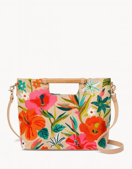 Embroidered Lark Tote