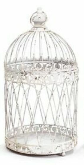 Rustic White Bird Cage