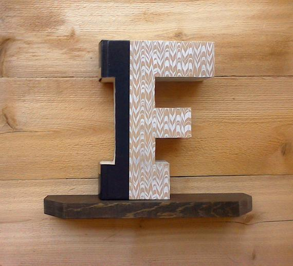 Letter F - Hand Carved Book