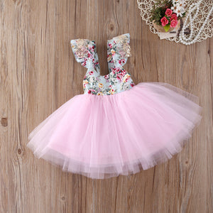 Girl Flower Pattern Top Dress