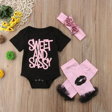 Baby Romper with Headband and Leg Warmers