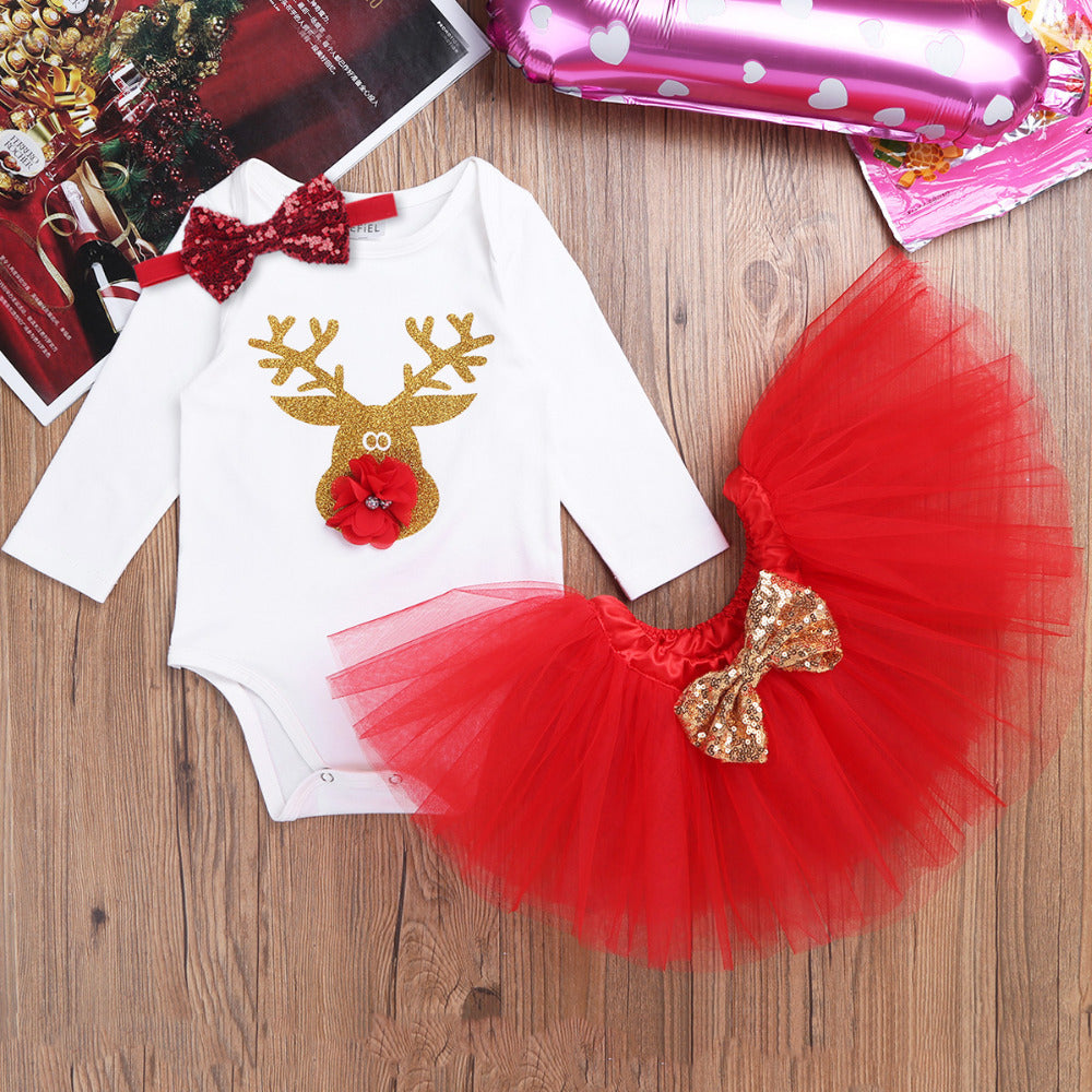 Deer tutu set xmass