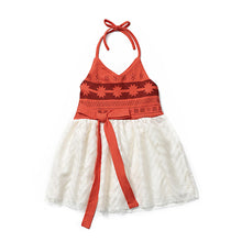 MUABABY Moana Dress up Clothes Baby Girls Strap Backless Vaiana Princess Cosplay Costume Toddler Kids Summer Beach Tutu Sundress