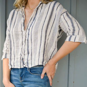 Rooney Striped Button-up