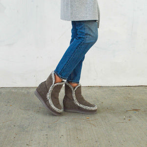 French Toe Wedge Short Boot