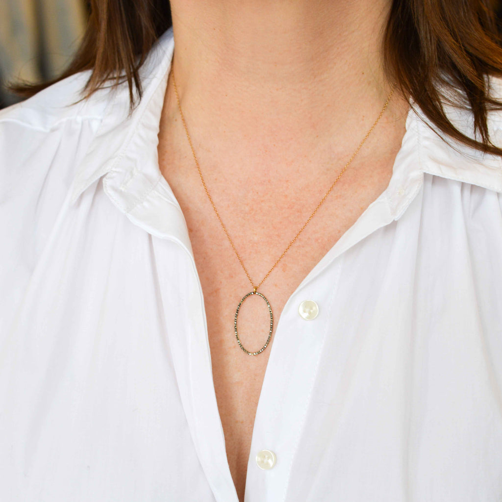 Collier Dizzy Black Diamond Necklace