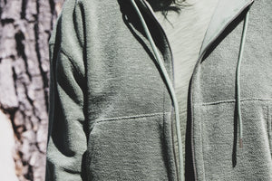 French Terry Zip Up Hoodie