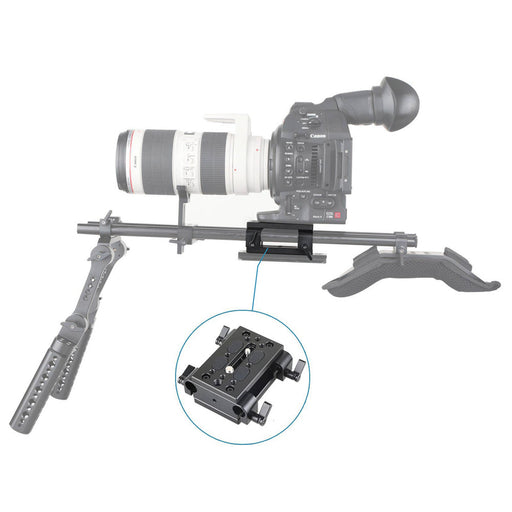 SmallRig Basisplate mit Dual 15mm Rod Clamp 1798