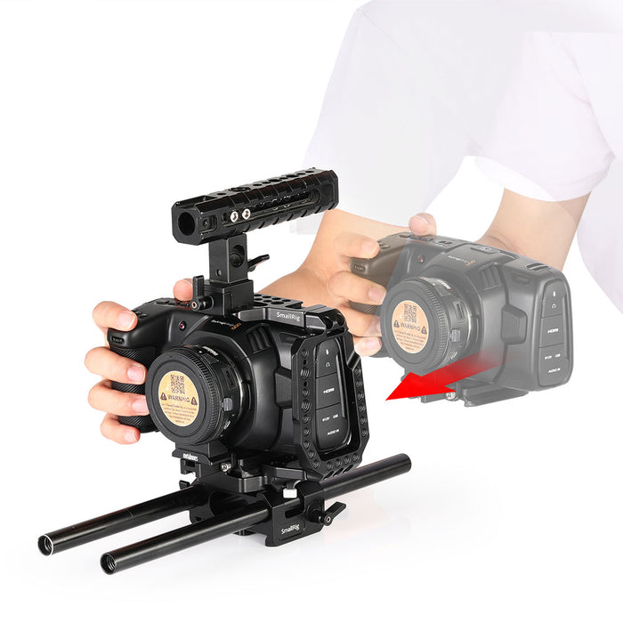 SmallRig QR Halber Cage für die Blackmagic Design Pocket Cinema Kamera 4K 2255