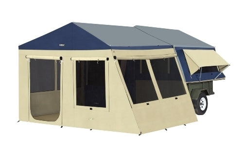 Outer Ridge Quest Canvas Sunroom & PVC Floor Kit - OZtrail All your Camping needs