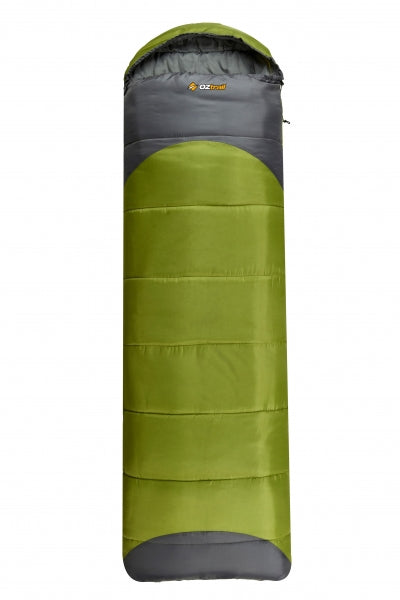 Leichardt Jumbo Hooded 0C Sleeping Bag - OZtrail All your Camping needs